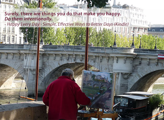 Artist, Seine river, Paris. By Bryan Hutchinson