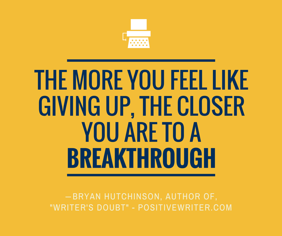 You're close to a breakthrough!