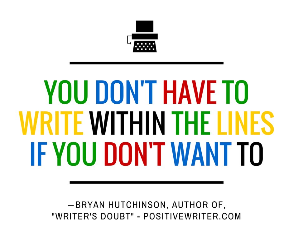 Writing within the lines.
